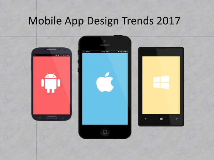Mobile app design trends 20171