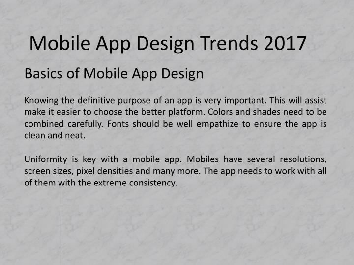 Basics of Mobile App Design