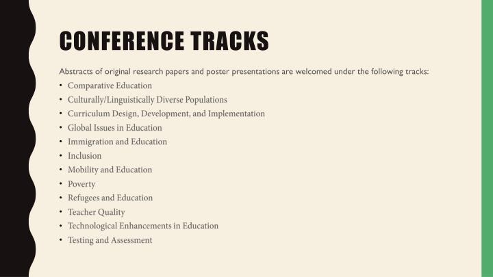 Conference tracks
