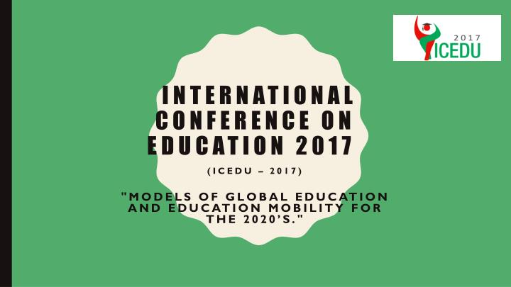 International conference on education 2017