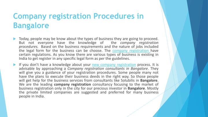 Company registration procedures in bangalore1