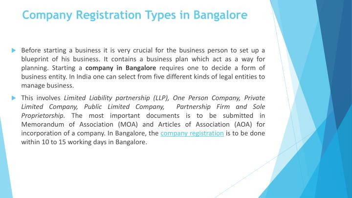 Company Registration Types in Bangalore