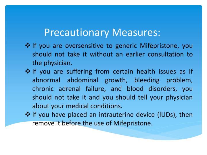 Precautionary Measures:
