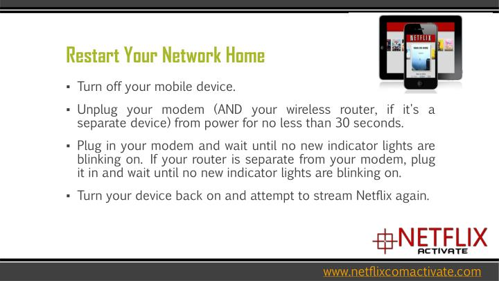 Restart your network home