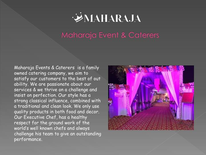 Maharaja event caterers