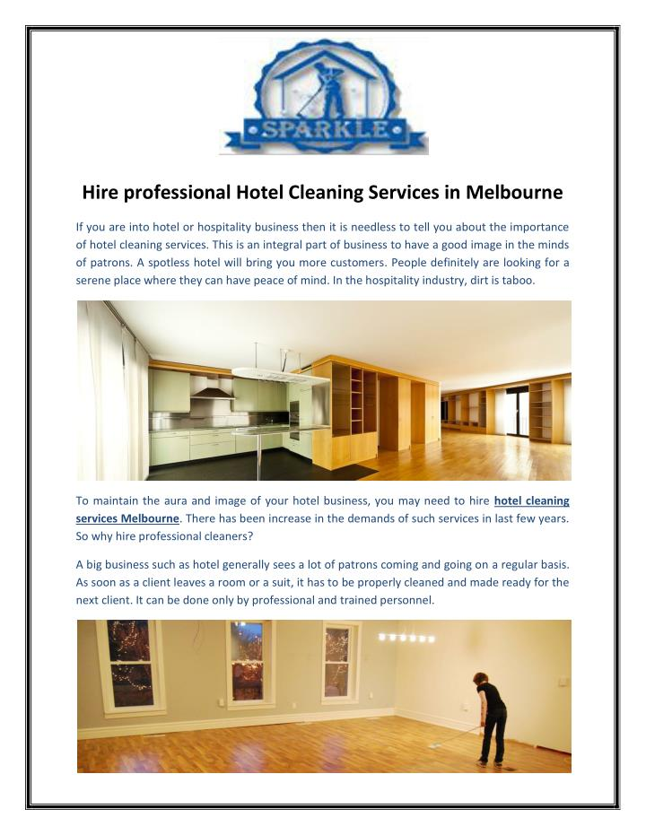 Hire professional Hotel Cleaning Services in Melbourne