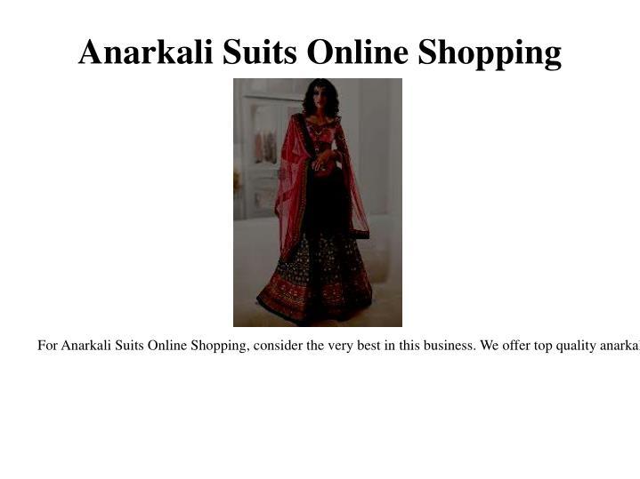 Anarkali Suits Online Shopping