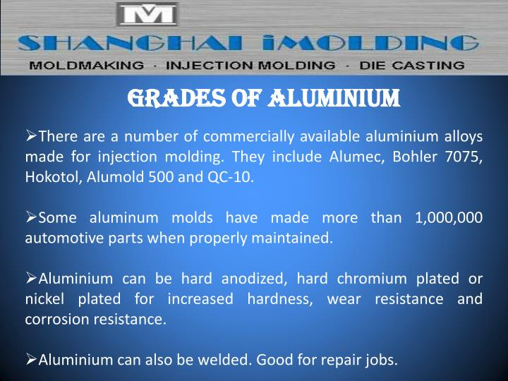 Grades of Aluminium