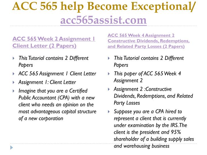 Acc 565 help become exceptional acc565assist com2