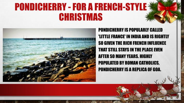 Pondicherry - For a French-style Christmas