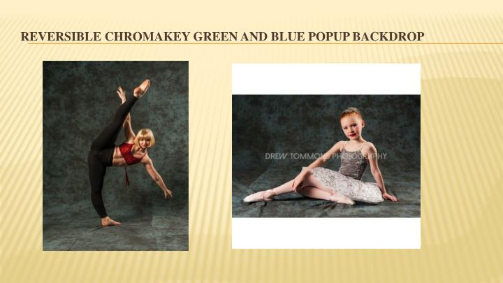 Reversible Chromakey Green And Blue Popup Backdrop