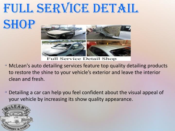 Full Service Detail