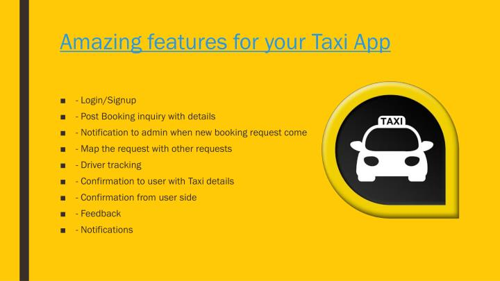 Amazing features for your taxi app