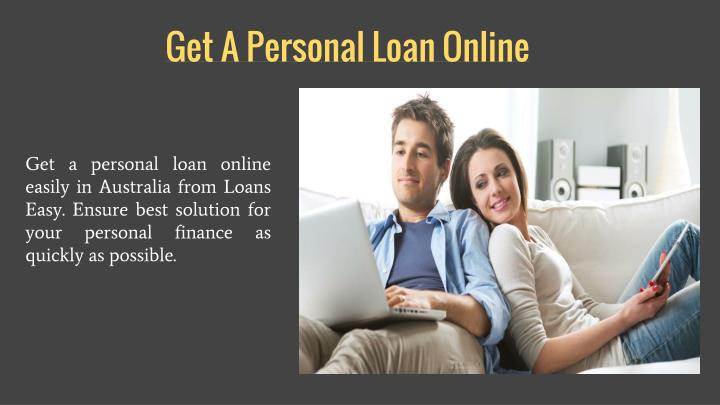Get A Personal Loan Online