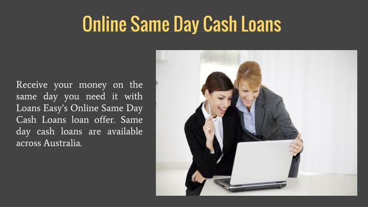 Online Same Day Cash Loans
