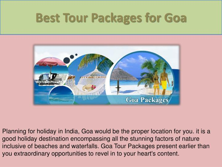 Best Tour Packages for Goa
