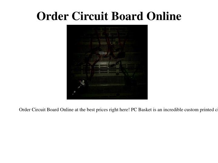 Order Circuit Board Online