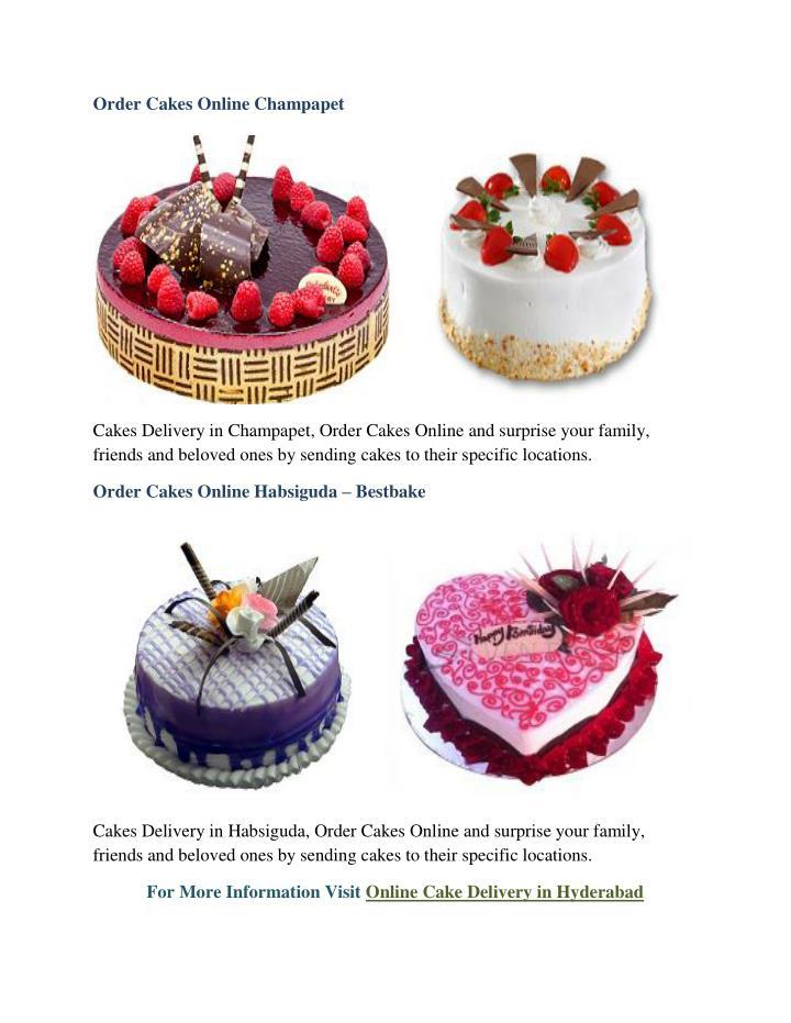 Order Cakes Online Champapet