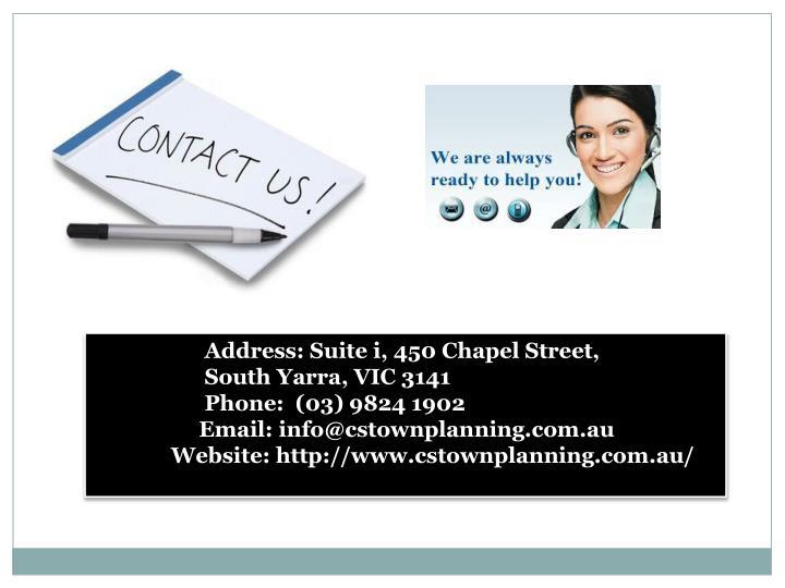 Address: Suite i, 450 Chapel Street,