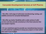 cocrystals development services at vxp pharma