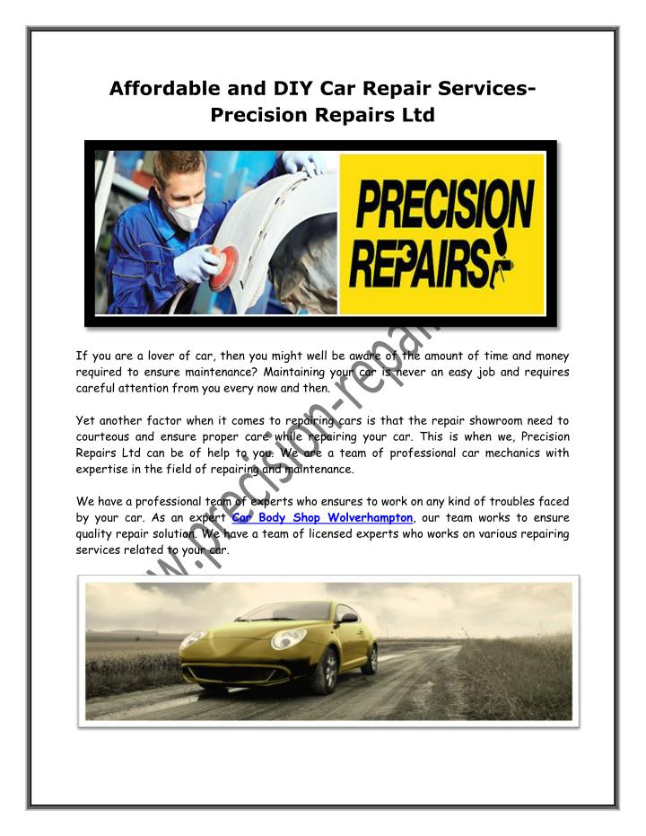 Affordable and DIY Car Repair Services-
