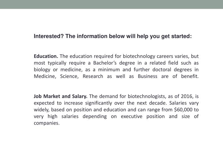 Interested? The information below will help you get started