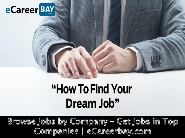 Browse Jobs by Company – Get Jobs in Top Companies | eCareerbay.com