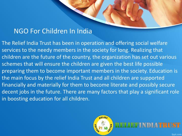 NGO For Children In India
