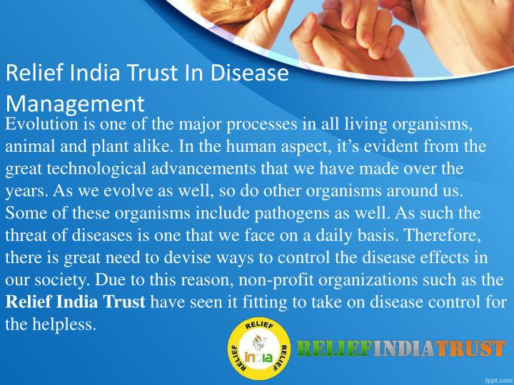 Relief India Trust In Disease Management