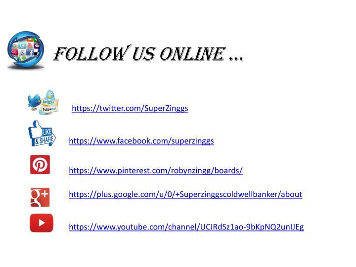 Follow us online
