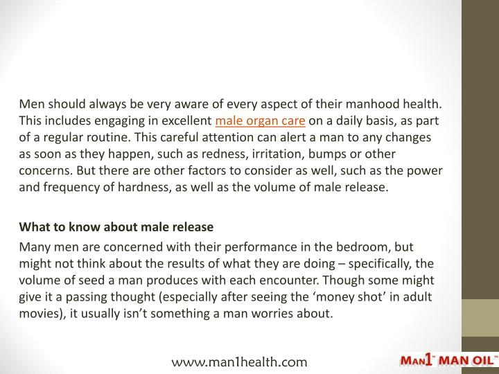 Men should always be very aware of every aspect of their manhood health. This includes engaging in e...