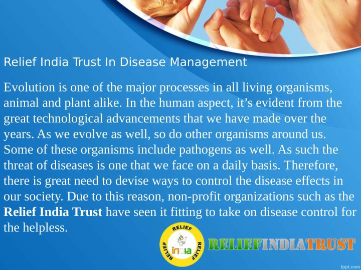 Relief India Trust In Disease Management
