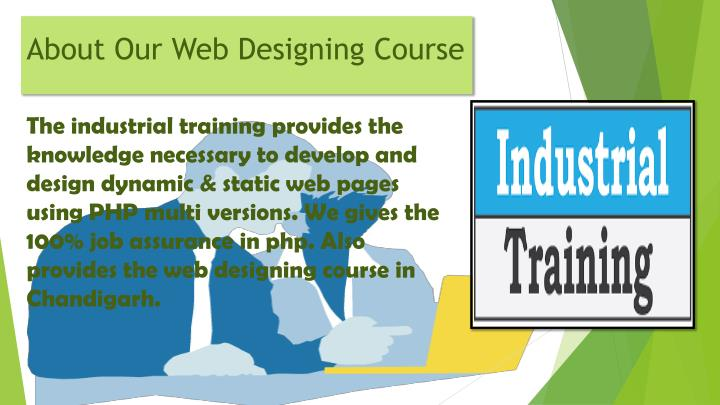 About our web designing course