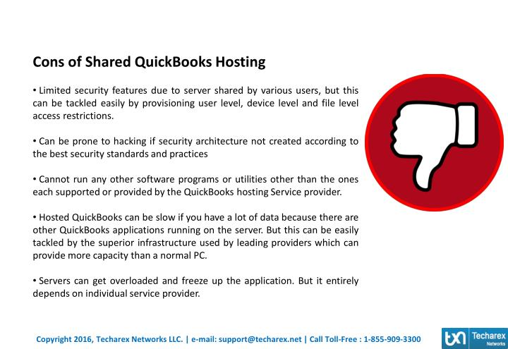 Cons of Shared QuickBooks Hosting