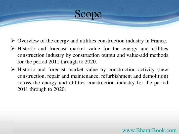 Overview of the energy and utilities construction industry in France.