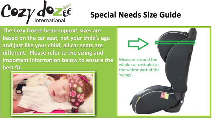 Special Needs Size Guide