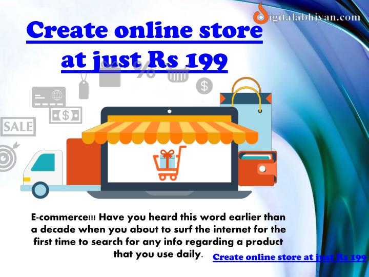 Create online store at just Rs 199
