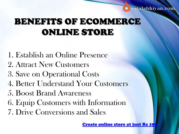 BENEFITS OF ECOMMERCE ONLINE STORE