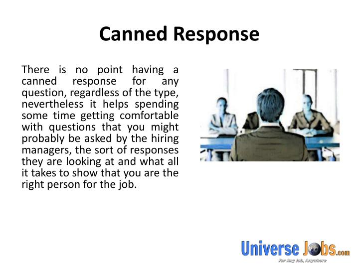 Canned response