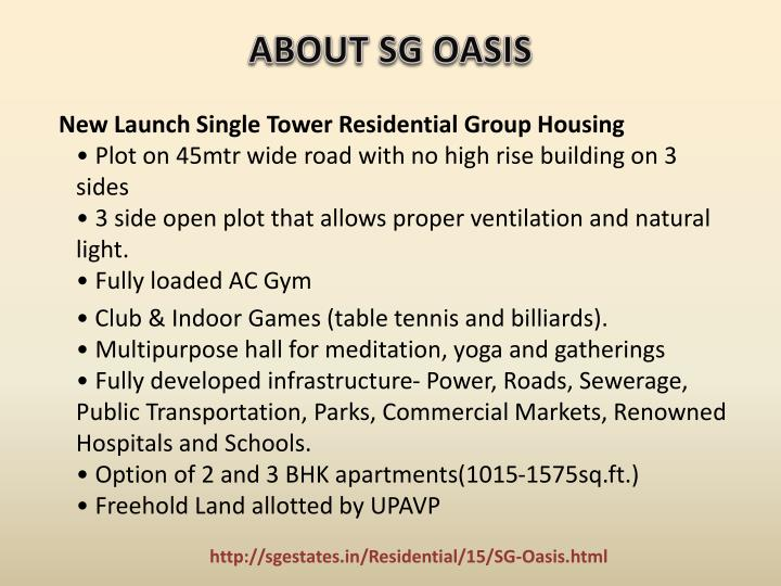 About sg oasis