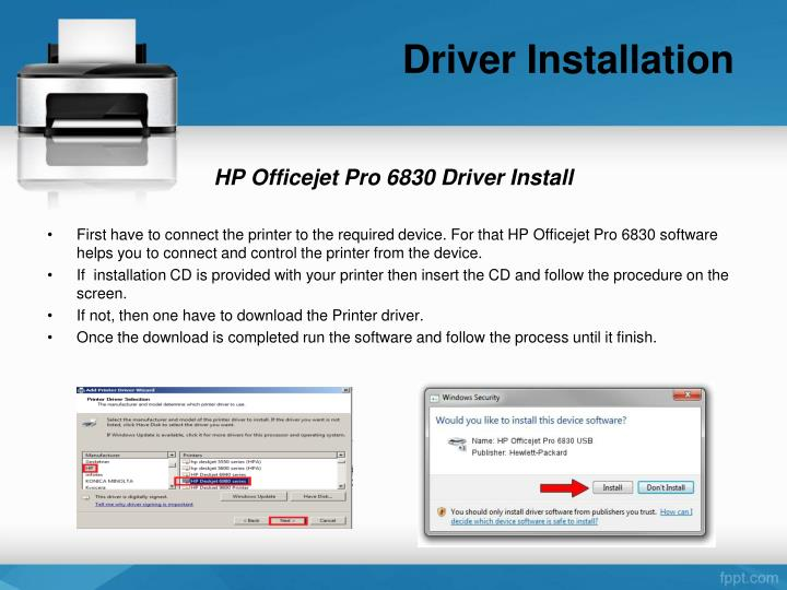 Driver Installation