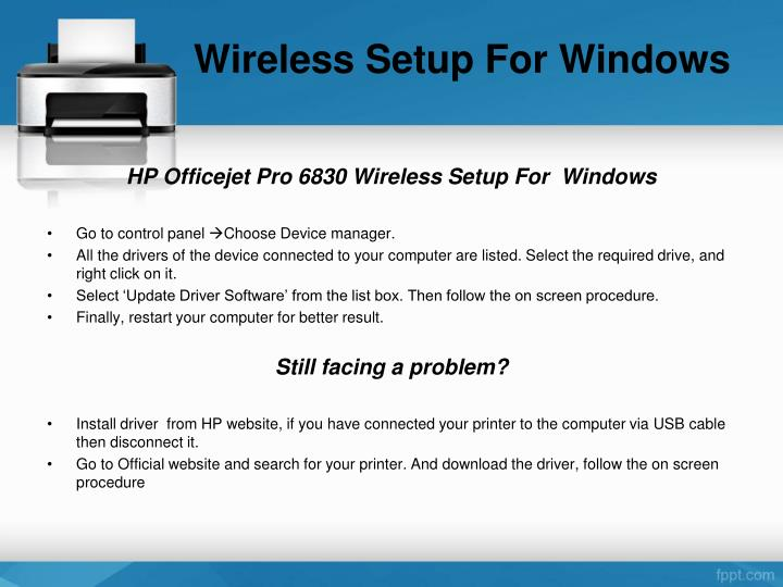 Wireless Setup For Windows