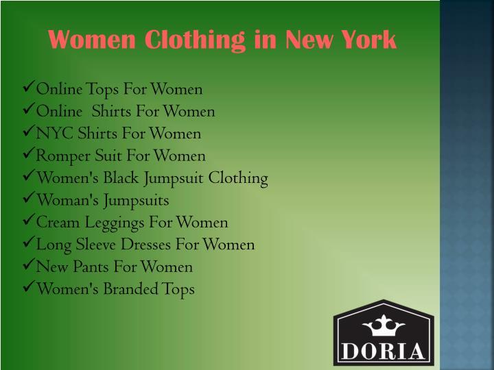 Women Clothing in New York