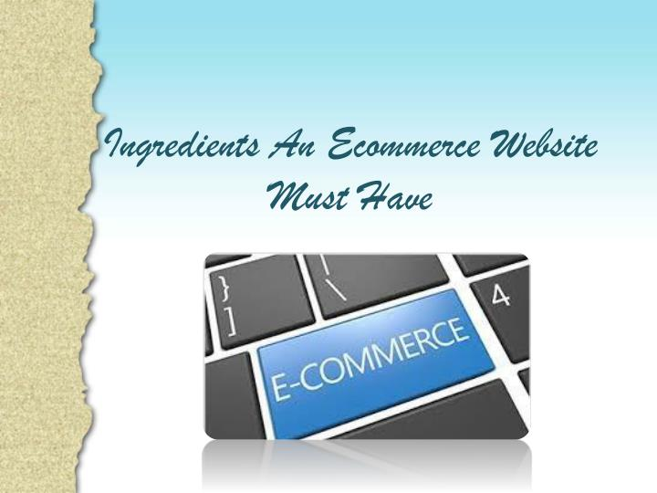 Ingredients An Ecommerce