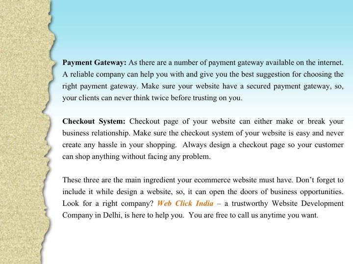 Payment Gateway: