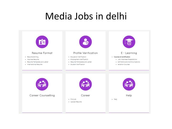 Media jobs in delhi
