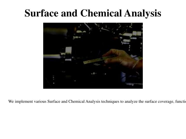 Surface and Chemical Analysis