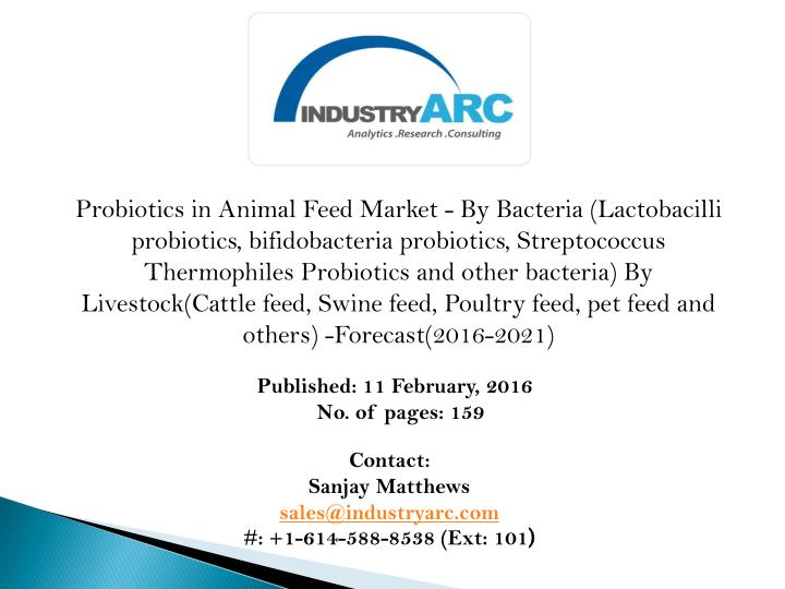 Probiotics in Animal Feed Market - By Bacteria (Lactobacilli probiotics,
