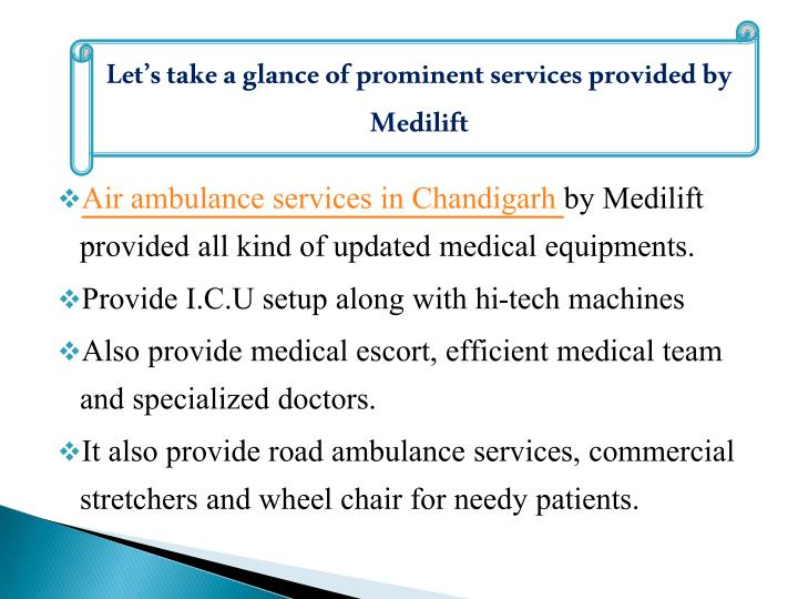 Let's take a glance of prominent services provided by