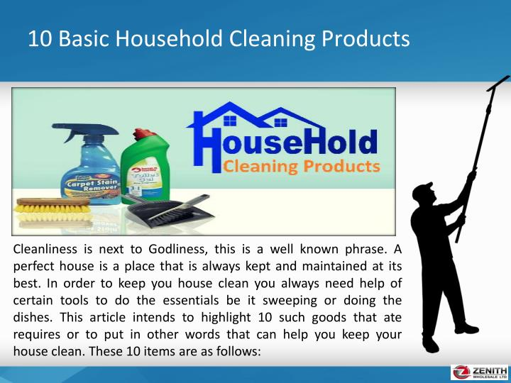 10 basic household cleaning products1